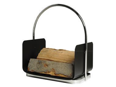 Chrombügel Holzkorb